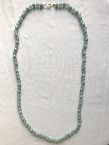 Angelite necklace and Green Aventurine necklace