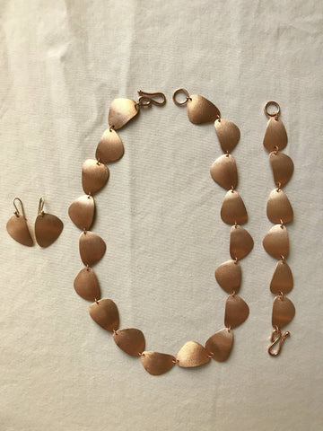 Rose Gold Stone Suite Set