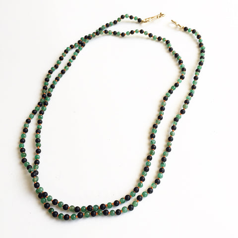 Agate and Emerald Necklace