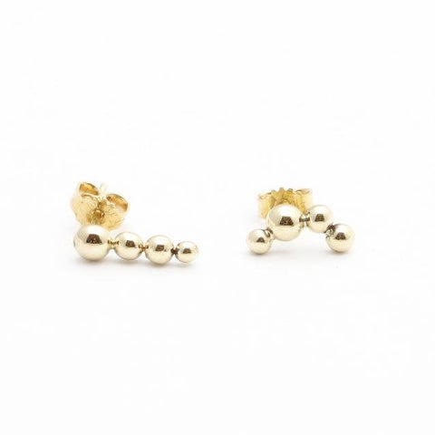 Bubble Gold Earrings