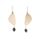 Black Diamond & Pebble Earrings