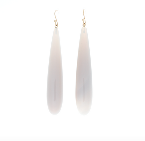 Grey Quartz Earrings