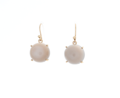 Ceylon Round Moonstone Earrings