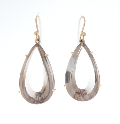 Champagne Quartz Pear Earrings