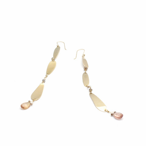 Lure Gold Pebble Earrings