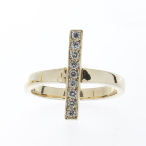 Torto Fulla Ring  9 White Diamonds 14k