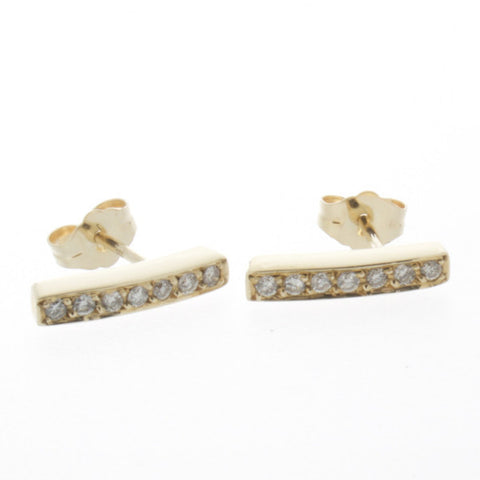 Torto Gold Syn Diamonds Ear Studs