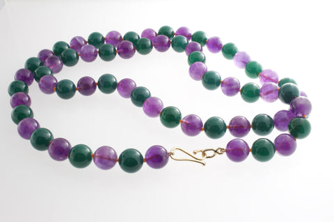 Amethyst and Peacock Agate necklace
