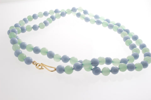 Angelite and Green Aventurine necklace