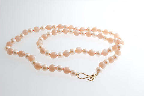 Moonstone and Pearl Necklace