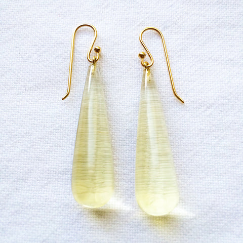 Pale Lemon Citrine Earrings