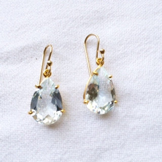 Blue Topaz Pear Earrings