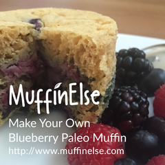 paleo blueberry muffin using MuffinElse