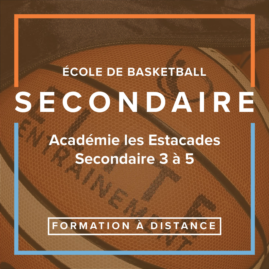 École de basketball - Secondaire - Formation à distance
