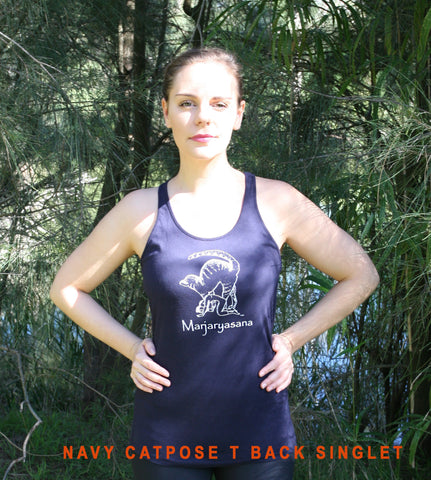 Marjaryasana Ladies T-Back Singlet