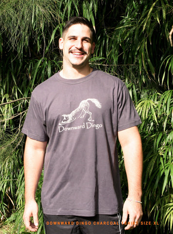 Downward Dingo charcoal Tee Men