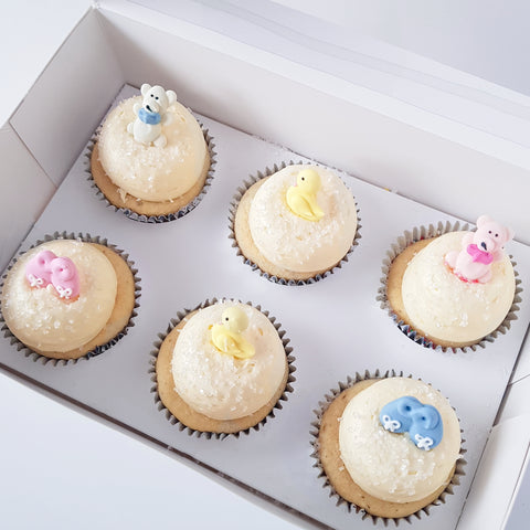 baby shower gender reveal cupcakes sydney