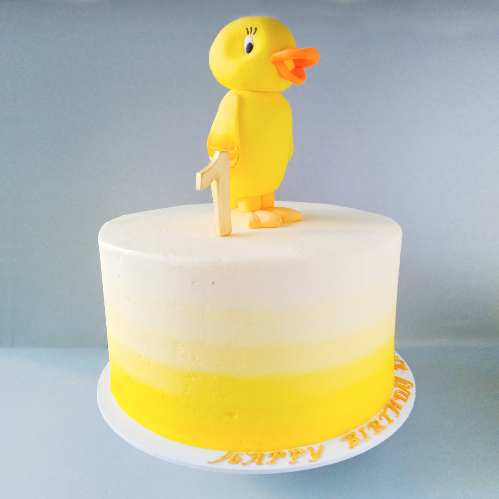 Duckie the Yellow Rubber Ducky Cake