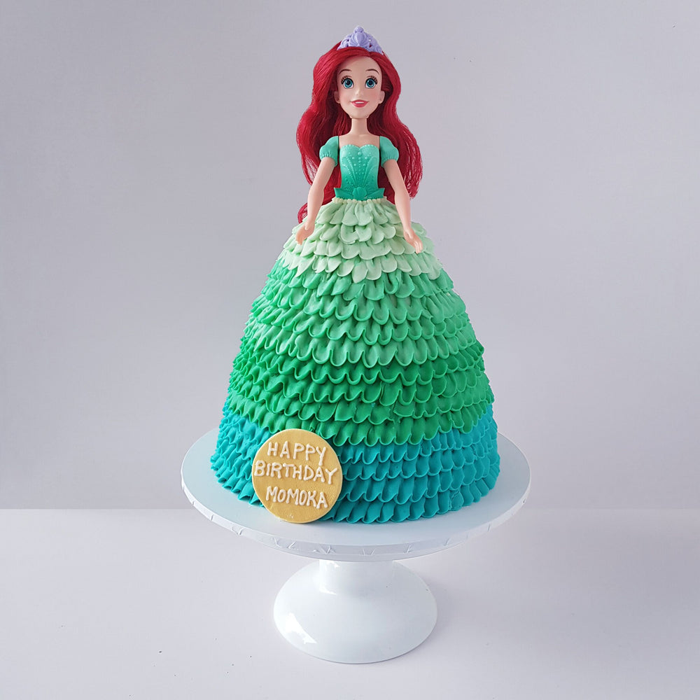barbie-doll-mermaid-cake-black-velvet-sydney