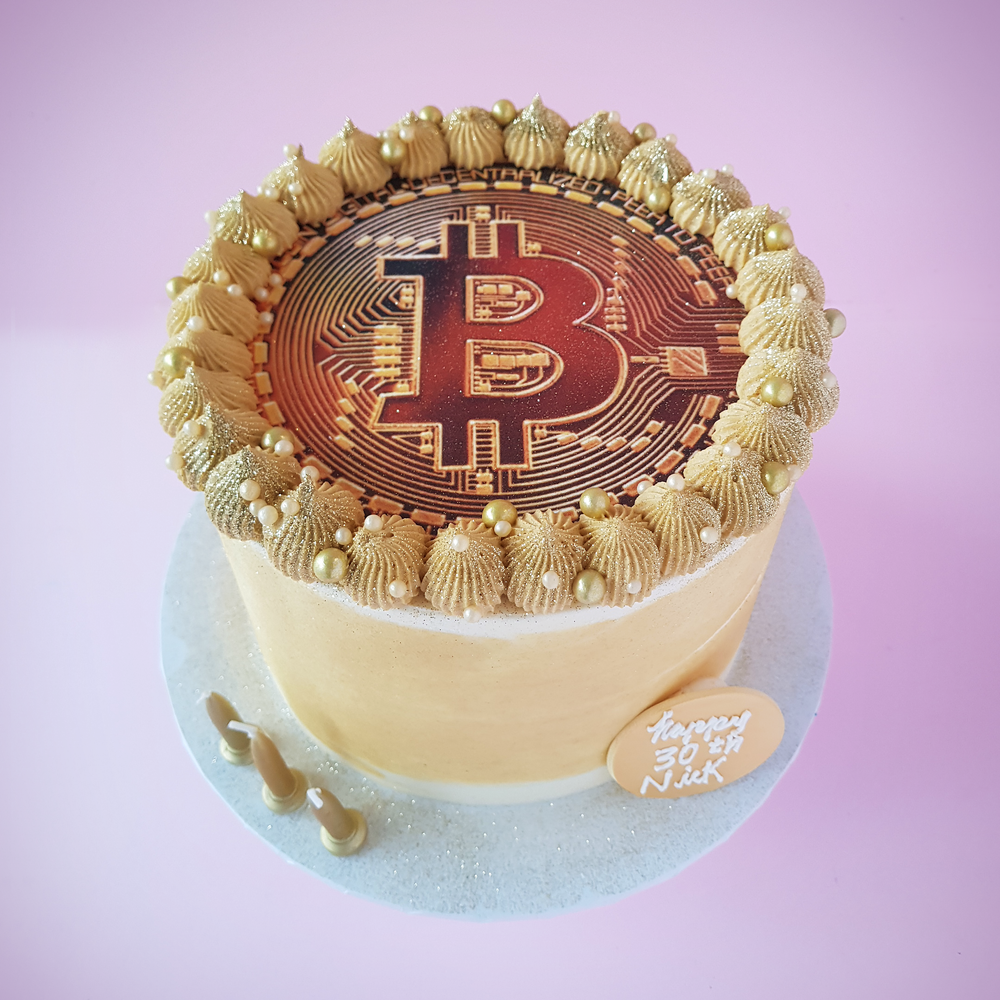 Bitcoin Cryptocurrency Cake