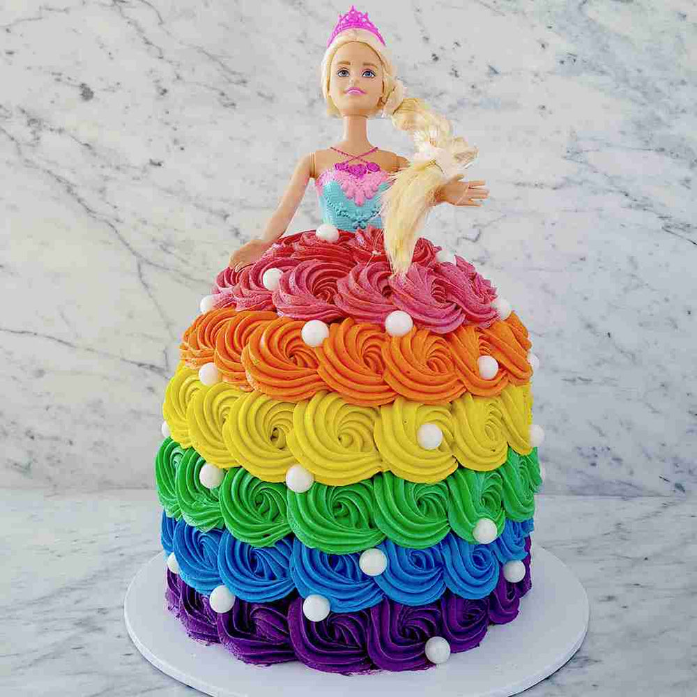 custom-cakes-sydney-rainbow-barbie