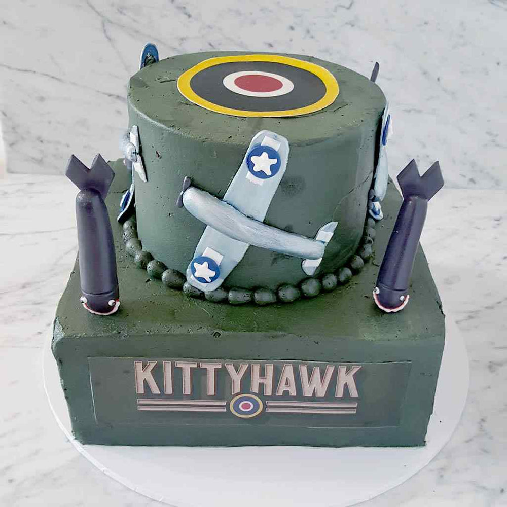 custom-cakes-sydney-war-plane-military-kittyhawk-cake