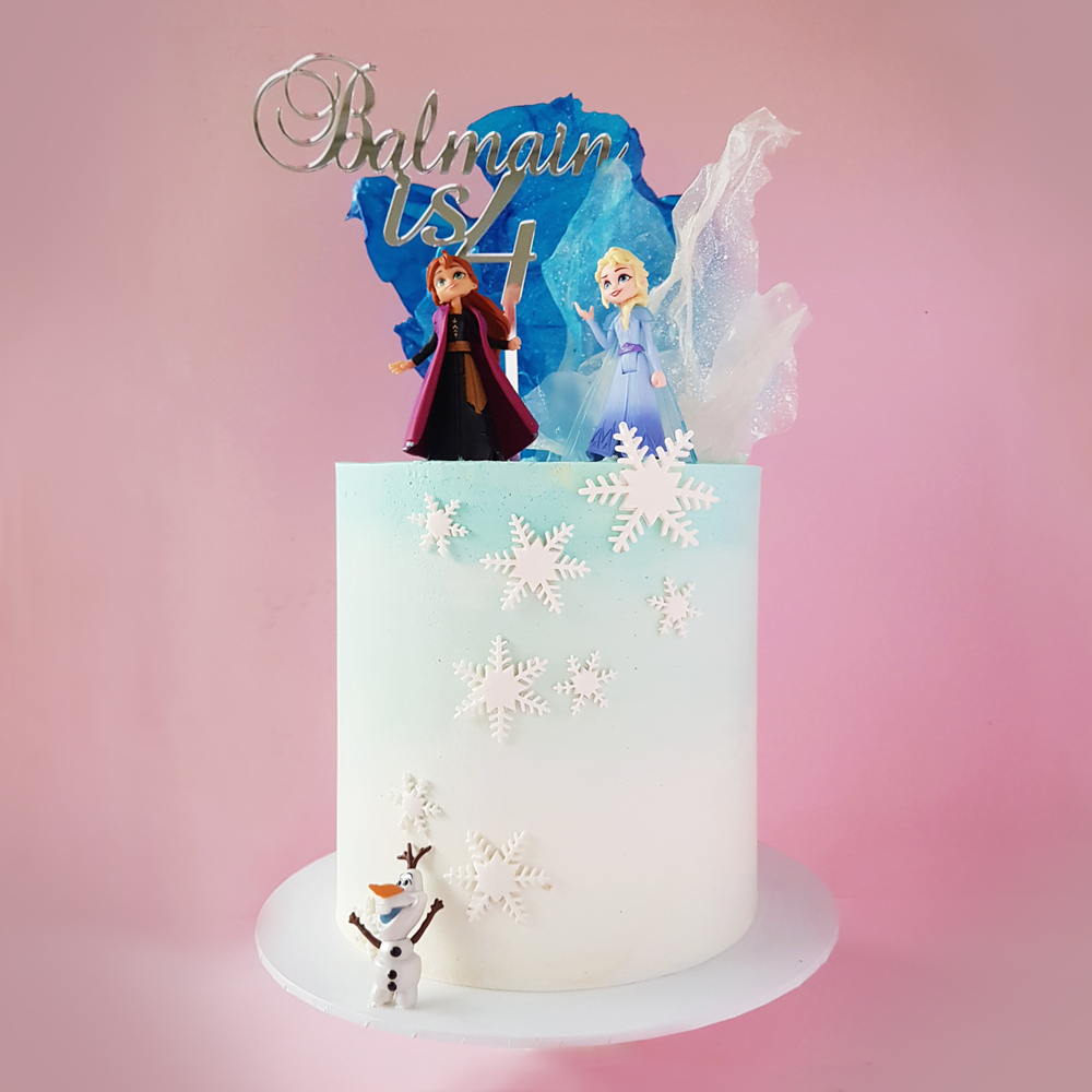 Frozen World Elsa, Anna and Olaf Doll Cake