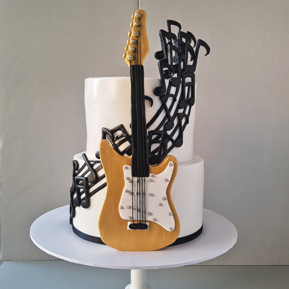 guitar-birthday-cake-black-velvet-sydney