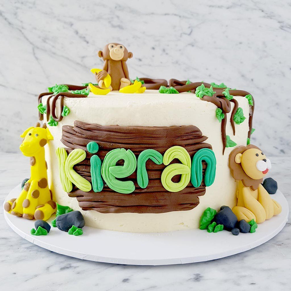 jungle-monkey-giraffe-lion-cake-sydney