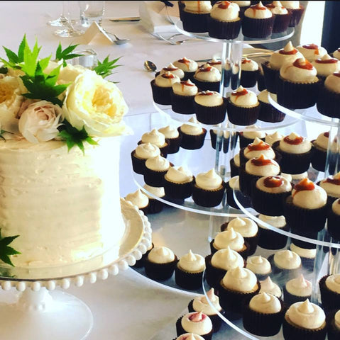 Wedding Cupcake Stand and Floral Cake
