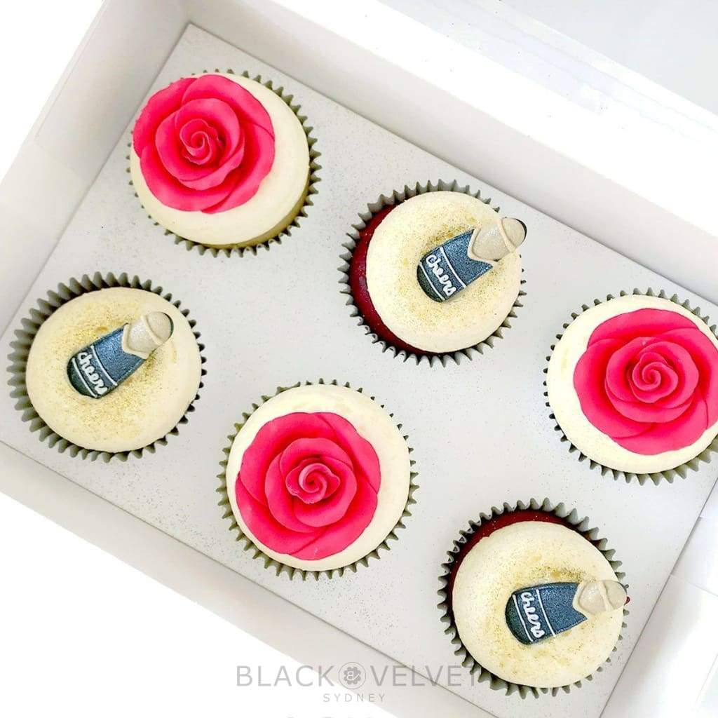 Valentines Day Cupcakes in Champagne & Rose Dreams (6) BVCLCupcake