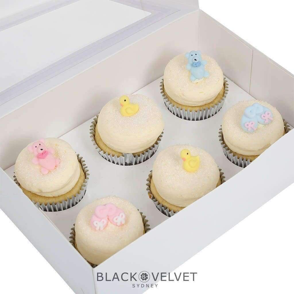 BVGFCupcake - LOW-GLUTEN Baby Shower Cupcakes (12)