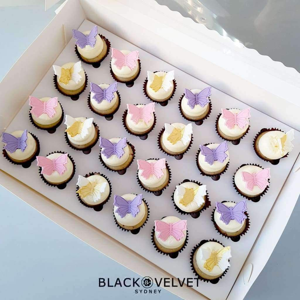 BVGFCupcake - LOW GLUTEN Butterfly Bliss Mini Cupcakes (24)