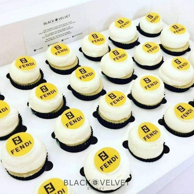 BVGFCupcake - LOW-GLUTEN Corporate Logo Mini Cupcakes (24)