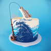 LOW GLUTEN Gone Fishing Cake
