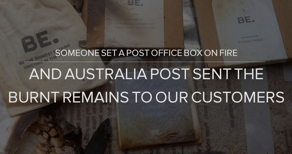 Someone Set A Post Box On Fire and Australia Post Sent the Burnt Remains To Our Customers