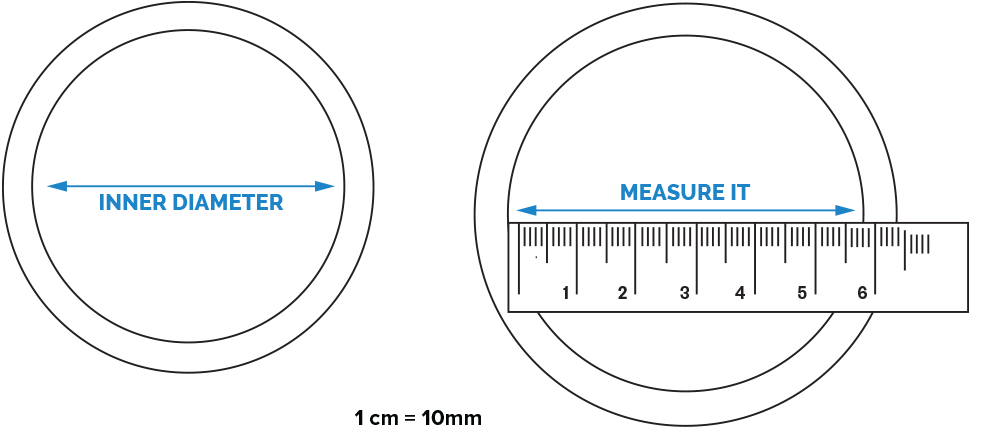 Measure Inner Diameter of your existing bangle