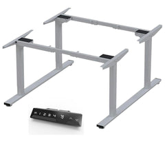 Infinity 2 Stage Leg, 4 Motor, 120kg lifting weight each desk, 4 Memory Back to Back (Frame only, includes cable 2 trays)