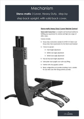 Steno-matic 3 Lever, Heavy Duty,  step by step back upright, with solid back cover.