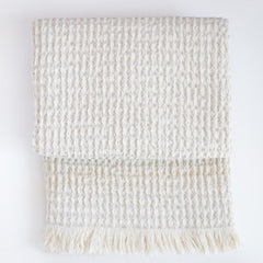 Linen throw Waffle - Linen Room Latvia