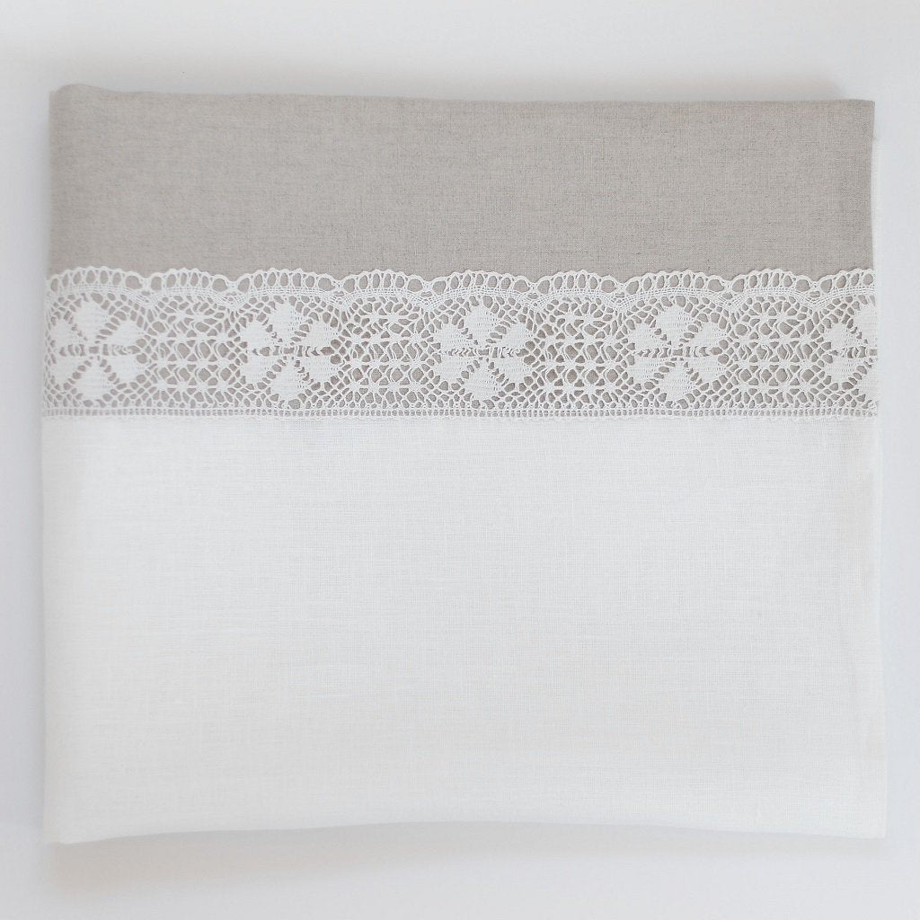 Linen Duvet Cover with Lace - Linen Room Latvia