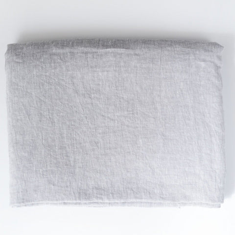 Light Grey Luxury Soft 100% Linen Bed Sheet