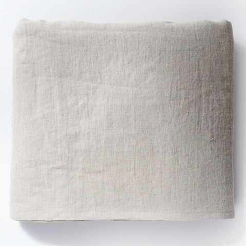 Natural Linen Color Luxury Soft 100% Linen Bed Sheet