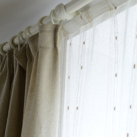 Linen Curtains with woven golden thread