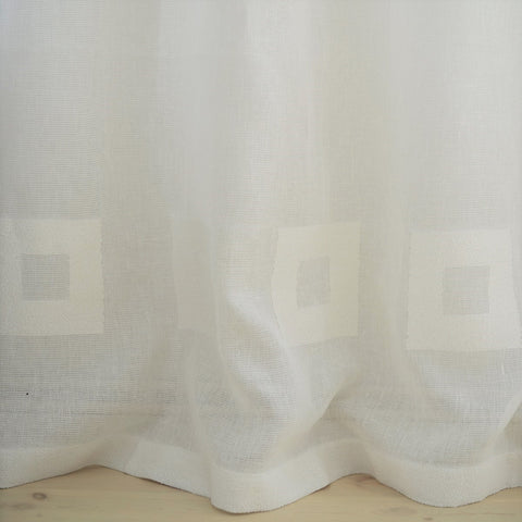 Linen Curtain with square
