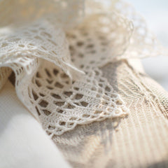 Linen Towel with Crocheted Lace towels Linen Room Latvia