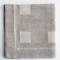 Linen tablecloth Boucle with square tableclothes Linen Room Latvia 150 x 150 cm gray