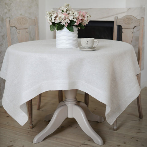 Classic linen tablecloth (white, grey, grey&white)
