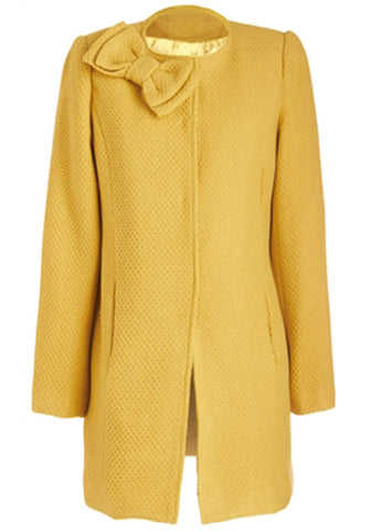 Bow Coat - Yellow