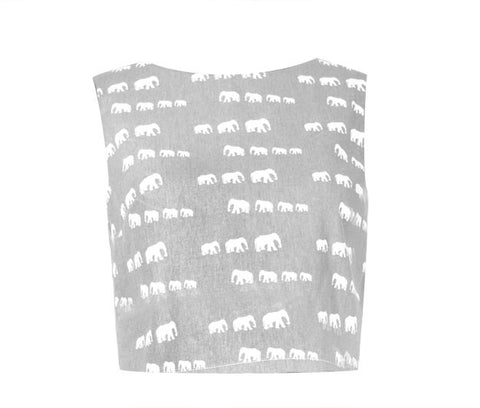 Box Top - Gray Elephant